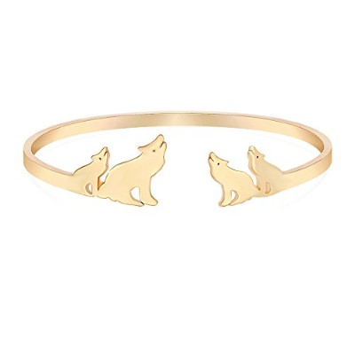 beichuang 3つカラーThe Wolves Howl Moon Open Expandable Bangle Wolf Kingジュエリークールギフト