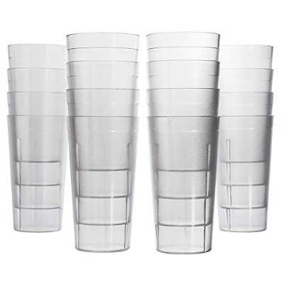 Café 16 pc壊れにくい商用グレード20 oz restaurant-quality Beverage Tumblers 20 oz., Water クリア 1801