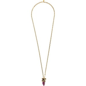Alexander McQueen faceted stone necklace - メタリック