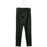 Dsquared2 Kids Teen logo plaque leggings - ブラック