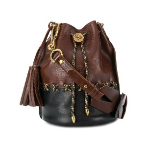 Il Bisonte braided bucket bag - ブラウン