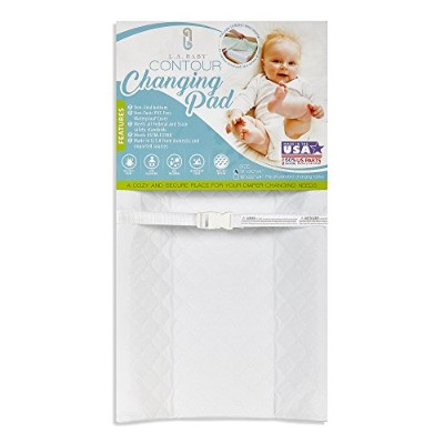 LA Baby Contour Changing Pad, White, 30 by LA Baby