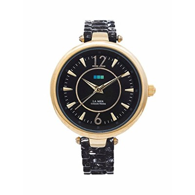 La Mer CollectionsレディースSicily Watch with Black Acetateリンク&ブラックダイヤル