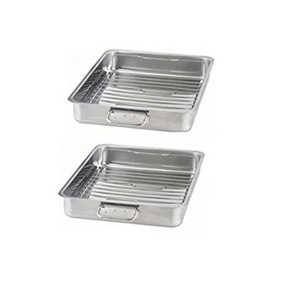 (2, 41cm x 33cm) - IKEA - KONCIS Roasting pan with grill rack, stainless steel (2, 16x13)