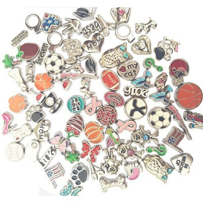 (200pcs) - Dotiow 200pcs No Repeat Floating Charms Mixed Women Fashion Jewellery Accessories...