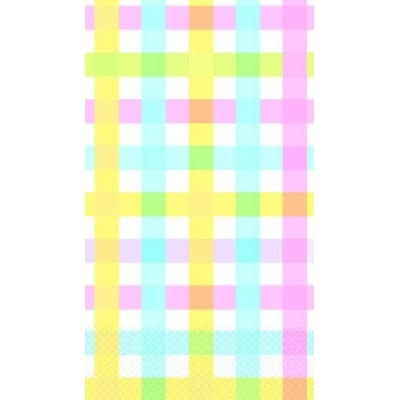 Colorful Gingham Stripes Paper Table Cover - 54x102 by AMS