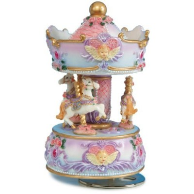 "Musicbox Kingdom 14138 Carousel with Angel Bust MusicボックスPlaying "" Blue Danube "" by MusicBox Kingdom"