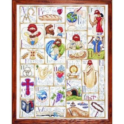 """Inspirational ABC Counted Cross Stitch Kit-16""""X20"""" 14 Count (並行輸入品)"""