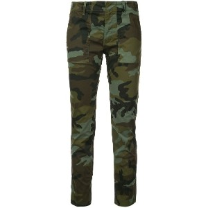 Nili Lotan cropped camouflage print trousers - グリーン