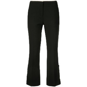 No21 cropped tailored trousers - ブラック