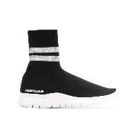 Joshua Sanders stripe embellished sock sneakers - ブラック