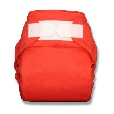 TushMate One-Fits-All Cloth Diaper, Hook & Loop, One-Size (Orange) by TushMate