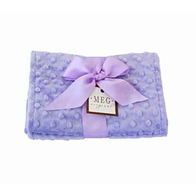 MEG Original Lavender Minky Dot Baby Girl Burp Cloth Set 112 by MEG Original
