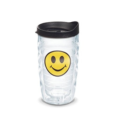 Tervis Smiley FaceエンブレムWrap with Lid 10ozタンブラー1091325