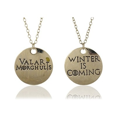 """accessorisingg Game of Thrones Inspired Two Part """" Valar morghuls」と「Winter Is Coming """"ペンダントセット[..."""