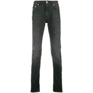 Alexander McQueen slim fit faded jeans - ブラック