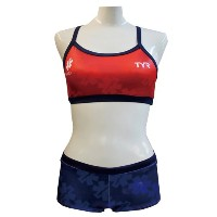 TYR(ティア) 【GUARD】WOMENS WORK OUT BIKINI WGARD-17S ネイビーレッド M