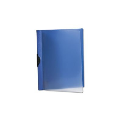 Polypropylene No-Punch Report Cover, Letter, Holds 50 Pages, Clear/Dark Blue (並行輸入品)
