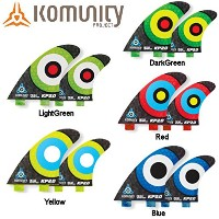 komunity フィン KP2.0 HONEY COMB-QUAD FCS レッド