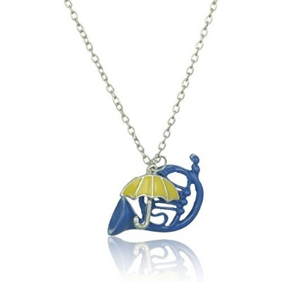 """accessorisingg """" How I Met Your Mother """" InspiredブルーFrench Horn andイエロー傘ペンダント[ pd233]"""