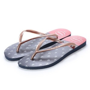 【SALE 20%OFF】ハワイアナス havaianas SLIM NAUTICAL (adult sizes) (navy blue/red) レディース