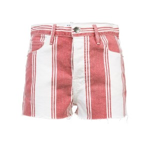 Frame Denim striped fitted shorts - レッド