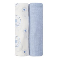 aden by aden + anais silky soft swaddle 2 pack, beau by aden + anais