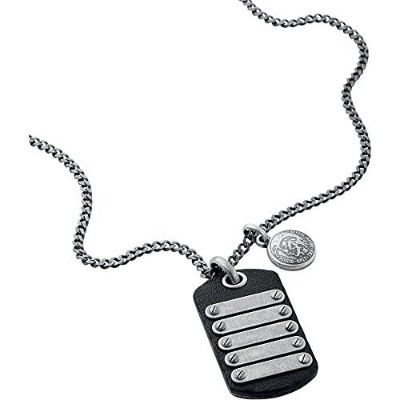 Diesel dx0703040バイカーネックレスwithギフトボックス