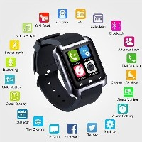 Smart Watch Smartwatch U80 Bluetooth WristWatch for IPhone」ャ Android」ャ IOS. Black