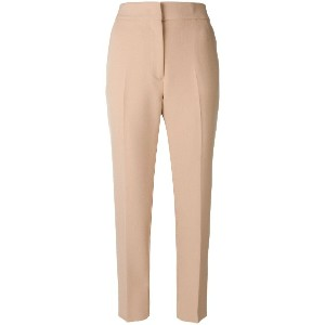 MSGM cropped tailored trousers - ヌード&ナチュラル