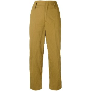 Forte Forte cropped chino trousers - グリーン