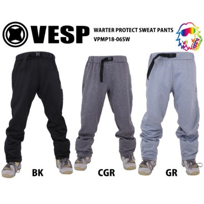 18-19 VESP【ベスプ】 WARTER PROTECT SWEAT PANTS VPMP18-06SW スノーボードウェア