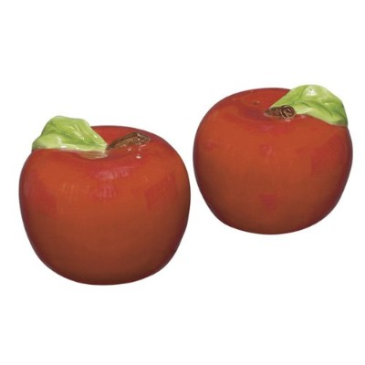 Delicious Red Apples Fruit Salt and Pepper Shaker Set Andrea by Sadek by Sadek