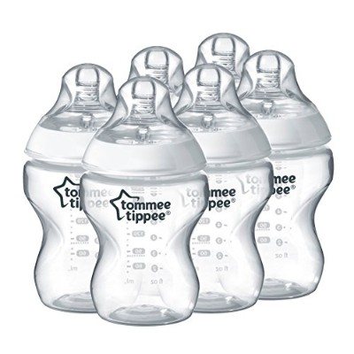 Tommee Tippee Closer to Nature 260 ml/9fl oz Feeding Bottles (6-pack)