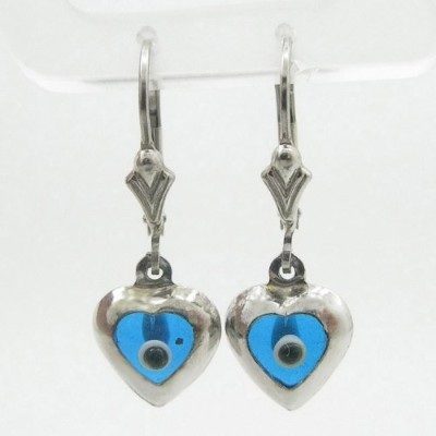 LadiesスターリングシルバーEvil Eye Dangle Earrings