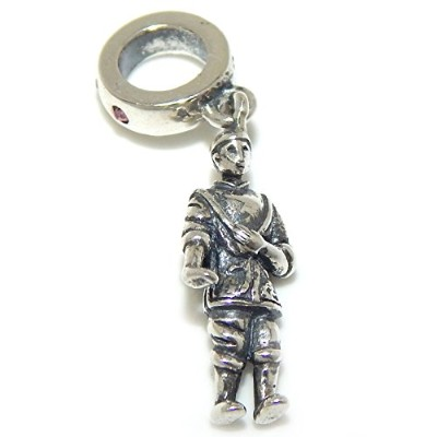 Proジュエリー925Solid Sterling Silver Dangling Man Carrying Baby On Hisバックチャームビーズ