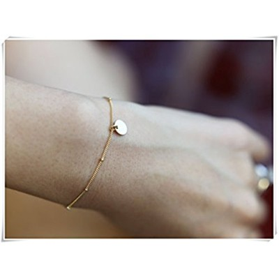 Leonid Meteor Shower Dainty Bracelet with Disc LayeringブレスレットDaintyビーズブレスレット