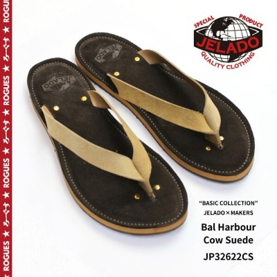 "JELADO ジェラード レザー サンダル ""BASIC COLLECTION"" JELADO×MAKERS Bal Harbour Cow Suede JP32622CS 【メンズ バルハーバー..."