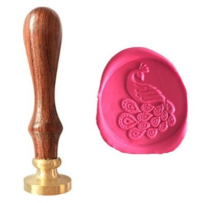 MDLG Vintage Peacock Crown Custom Picture Wedding Invitation Wax Seal Sealing Stamp Handle Set by MDLG