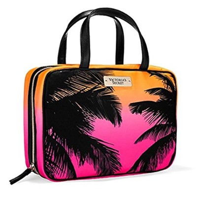 Victoria Secret Hanging Travel ToteバッグウィークエンダーCosmeticキャリアPalm Tree木ハワイCaribbean Cruise 2016
