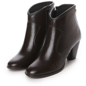 フォーパ パリ FAUX PAS PARIS HEEL SHORT BOOTS (Dark Brown) レディース