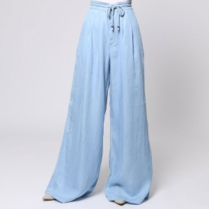 【SALE 50%OFF】ゲス GUESS CHAMBRAY PALAZZO PANT (SUPER BLEACHED WASH)