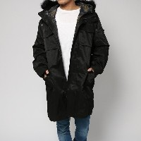 【SALE 50%OFF】ゲス GUESS HIGH RIDGE TWILL 2-PIECE PARKA (JET BLACK MULTI)