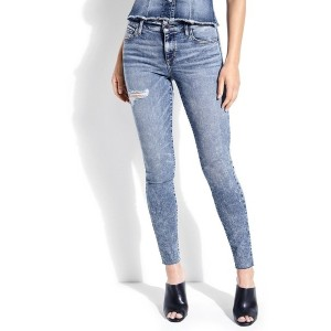 【SALE 54%OFF】ゲス GUESS SEXY CURVE MID-RISE CUT OFF DENIM PANT (PARADISO WASH)