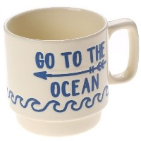 【SALE 30%OFF】【kahiko】GO TO THE OCEAN ビーチスタッキングマグカップ クリーム