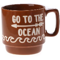 【SALE 10%OFF】【kahiko】GO TO THE OCEAN ビーチスタッキングマグカップ ブラウン