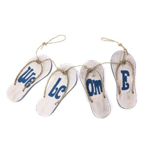 【SALE 37%OFF】【Kahiko】Welcome Signboard Sandals ホワイト