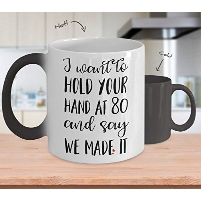 Romantic Color Changing Mug for妻–I Want to Hold Your Hand at 80–Romantic Color Changing Mug for妻