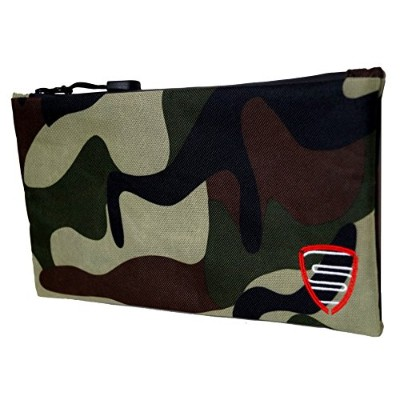"""stashtite Smell Proof Bag with Zipper and Velcro Closure (10.5"""" X 6"""")–Store研磨機、Vaporizers..."""
