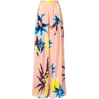 Delpozo floral print palazzo trousers - ピンク&パープル